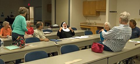 Peggy as nun