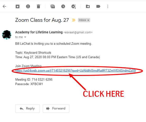 Zoom Invitation