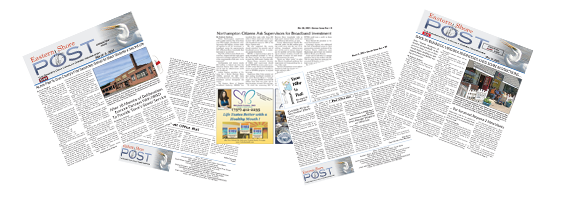 collage of Eastern Shore Post pages